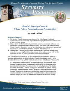Russia's Security Council Where Policy, Personality, and Process Meet